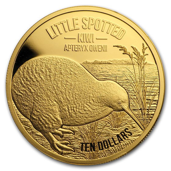 2018 New Zealand 1/4 oz Proof Gold $10 Kiwi (Coin Only)
