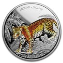 2018 Nicaragua 1 oz Silver 100 Córdobas Wildlife: Jaguar