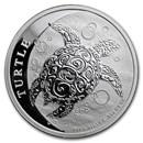 2018 Niue 1/2 oz Silver $1 Hawksbill Turtle BU