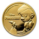 2018 Niue 1/4 oz Gold $25 Disney Pinocchio