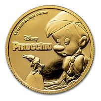 2018 Niue 1/4 oz Gold $25 Disney Pinocchio