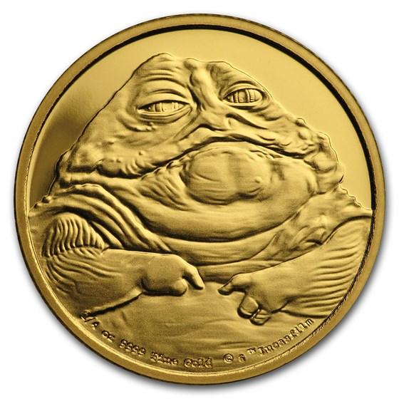 2018 Niue 1/4 oz Gold Star Wars Jabba the Hutt Proof (Box, COA)