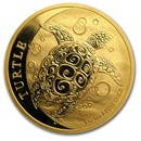 2018 Niue 1 oz Gold $250 Hawksbill Turtle BU