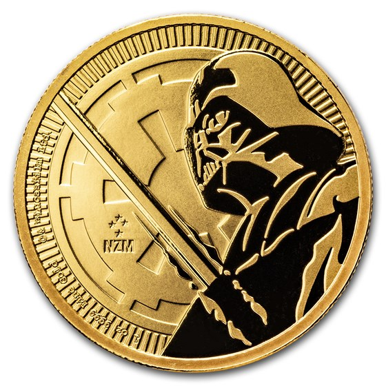 2018 Niue 1 oz Gold $250 Star Wars: Darth Vader Lightsaber BU