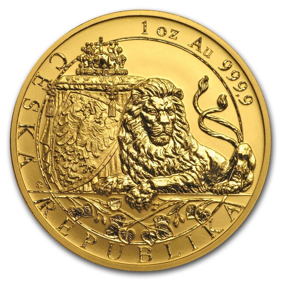 2018 Niue 1 oz Gold Czech Lion Reverse Proof
