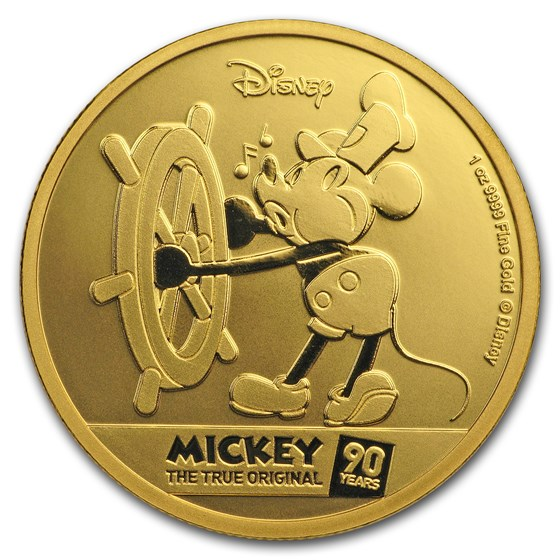 2018 Niue 1 oz Gold Proof $250 Disney Mickey's 90th Anniversary