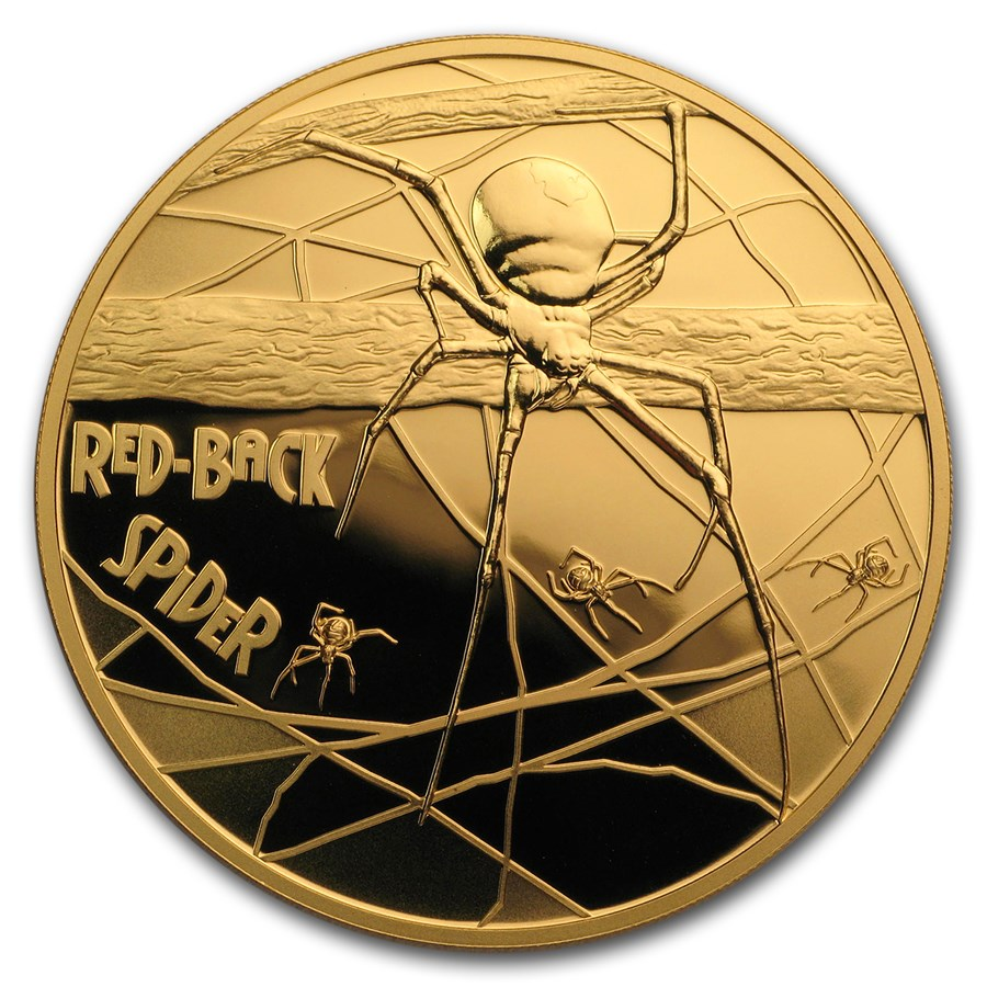 2018 Niue 1 oz Pf Gold Red-Back Spider Deadly & Dangerous