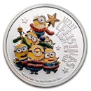 2018 Niue 1 oz Silver $2 Despicable Me: Christmas Minion Proof