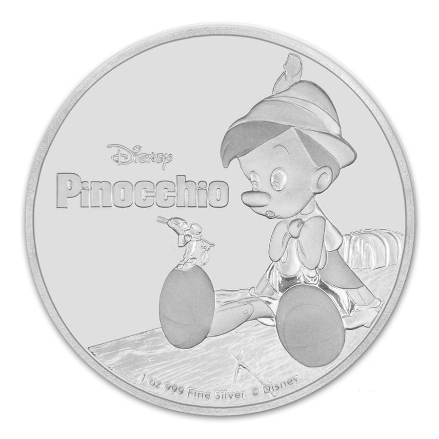 2018 Niue 1 oz Silver $2 Disney Pinocchio