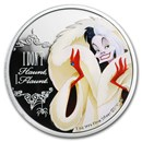 2018 Niue 1 oz Silver $2 Disney Villains Cruella De Vil