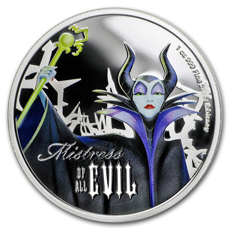 2018 Niue 1 oz Silver $2 Disney Villains Maleficent