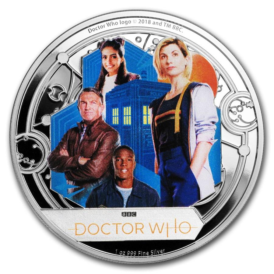 2018 Niue 1 oz Silver $2 Doctor Who Season 11