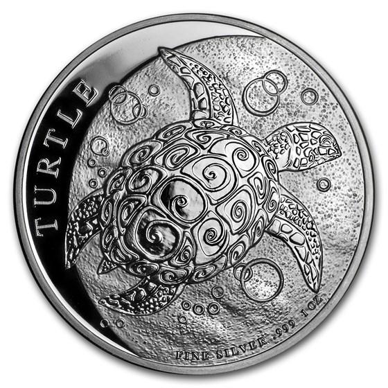 2018 Niue 1 oz Silver $2 Hawksbill Turtle