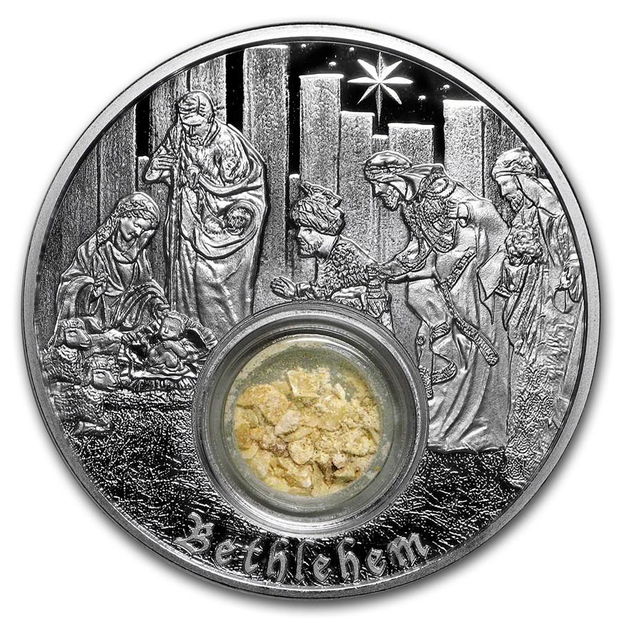 2018 Niue 1 oz Silver $2 In the Footsteps of Jesus Bethlehem