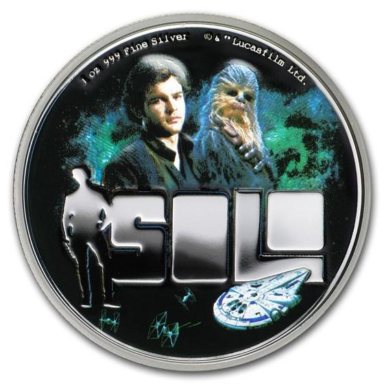 2018 Niue 1 oz Silver $2 Solo: A Star Wars Story (w/Box & COA)