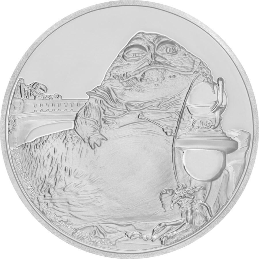 2018 Niue 1 oz Silver $2 Star Wars Jabba the Hutt (w/Box & COA)