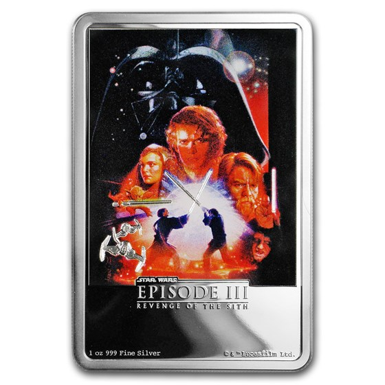 2018 Niue 1 oz Silver $2 Star Wars Revenge of the Sith Poster