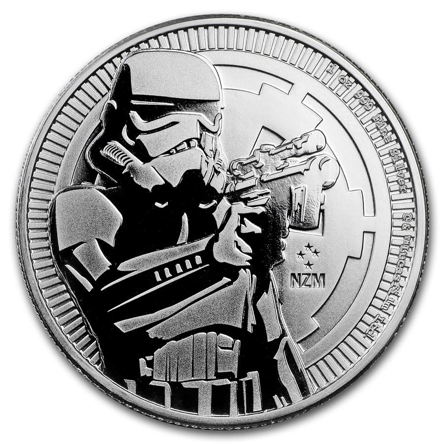 2018 Niue 1 oz Silver $2 Star Wars Stormtrooper BU