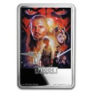 2018 Niue 1 oz Silver $2 Star Wars The Phantom Menace Poster