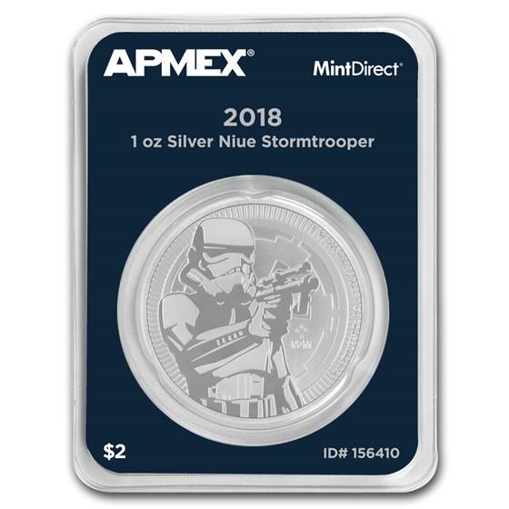 2018 Niue 1 oz Silver $2 Stormtrooper (MintDirect® Single)