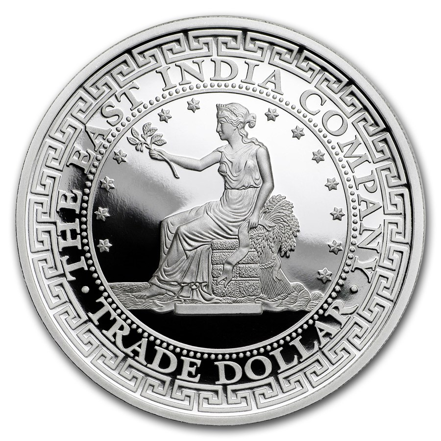 2018 Niue 1 oz Silver Proof U.S. Trade Dollar Restrike