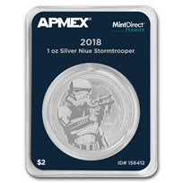 2018 Niue 1 oz Silver Stormtrooper (MintDirect® Premier Single)