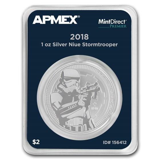 2018 Niue 1 oz Silver Stormtrooper (MintDirect® Premier Single)