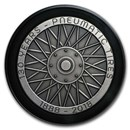 2018 Niue 2 oz Antique Silver 130th Anniversary Pneumatic Tires