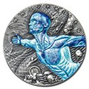2018 Niue 2 oz Antique Silver Code Of The Future: Immortality