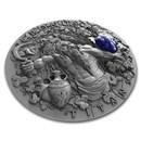 2018 Niue 2 oz Antique Silver Greek Titans Cronus