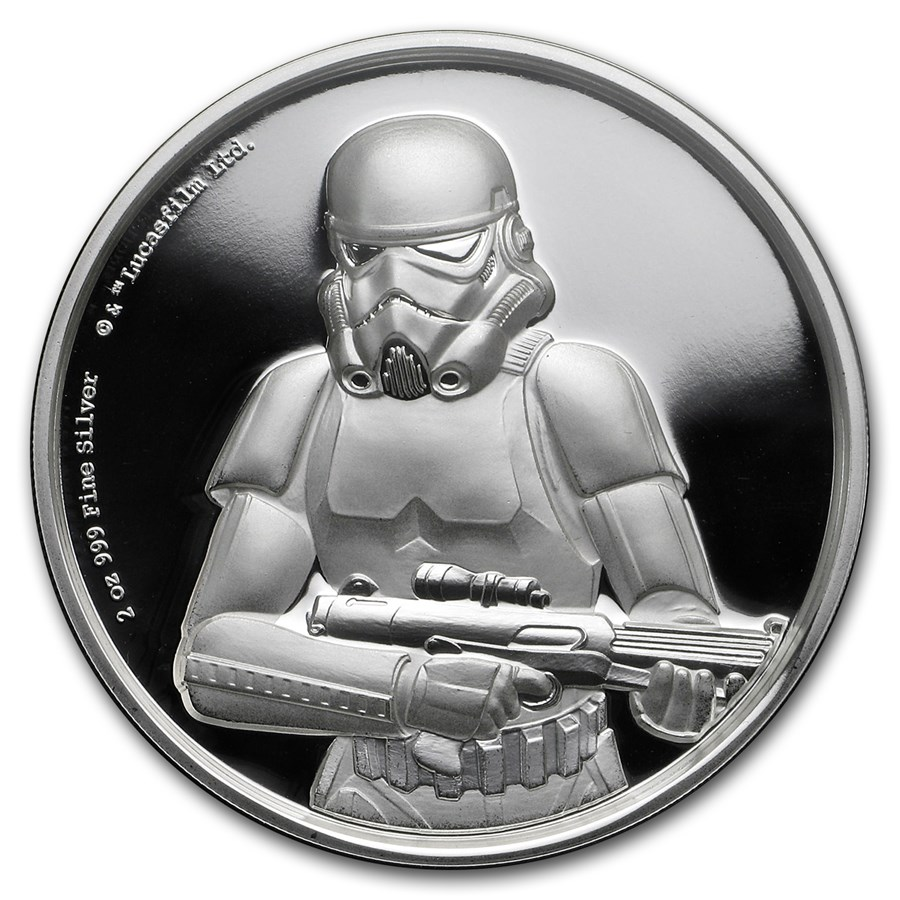 2018 Niue 2 oz Silver $5 Star Wars Stormtrooper Ultra High Relief
