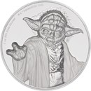 2018 Niue 2 oz Silver $5 Star Wars Yoda Ultra High Relief
