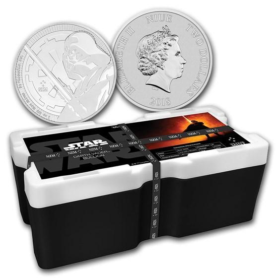 2018 Niue 250-Coin 1 oz Silver Darth Vader Lightsaber Monster Box