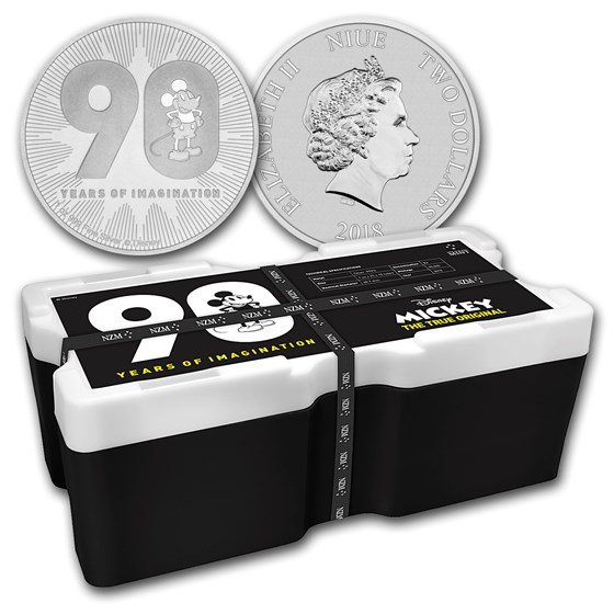2018 Niue 250-Coin 1 oz Silver Mickey's 90th Anniv Monster Box