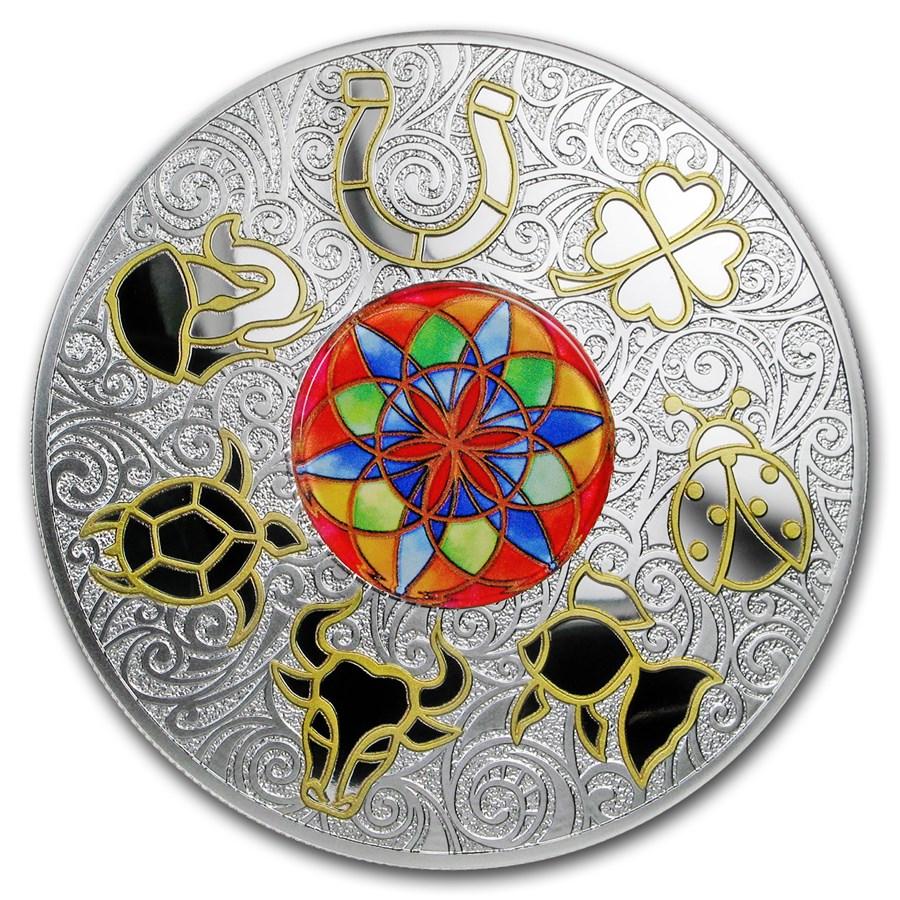 2018 Niue 250 grams Silver Lucky Seven Symbols of Good Luck