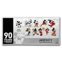 2018 Niue 5 gram Silver $1 Note Disney Mickey's 90th Anniversary