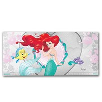 2018 Niue 5 gram Silver $1 Note Disney Princess Ariel