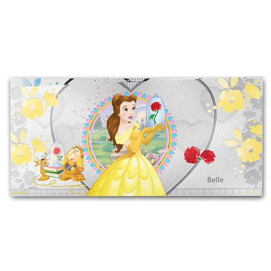 2018 Niue 5 gram Silver $1 Note Disney Princess Belle