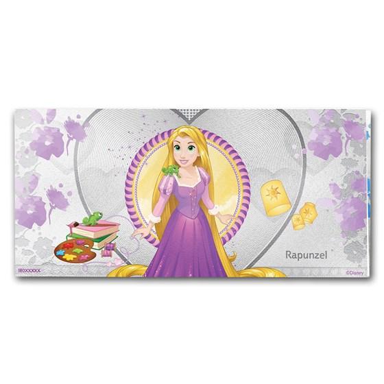 2018 Niue 5 gram Silver $1 Note Disney Princess Rapunzel