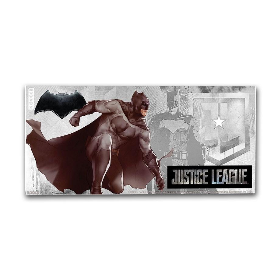 2018 Niue 5 gram Silver $1 Note Justice League Batman w/Album