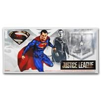 2018 Niue 5 gram Silver $1 Note Justice League Superman