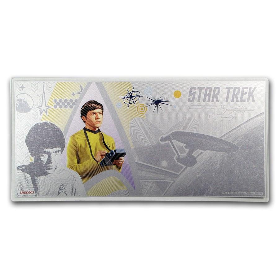 2018 Niue 5 gram Silver $1 Note Star Trek Chekov