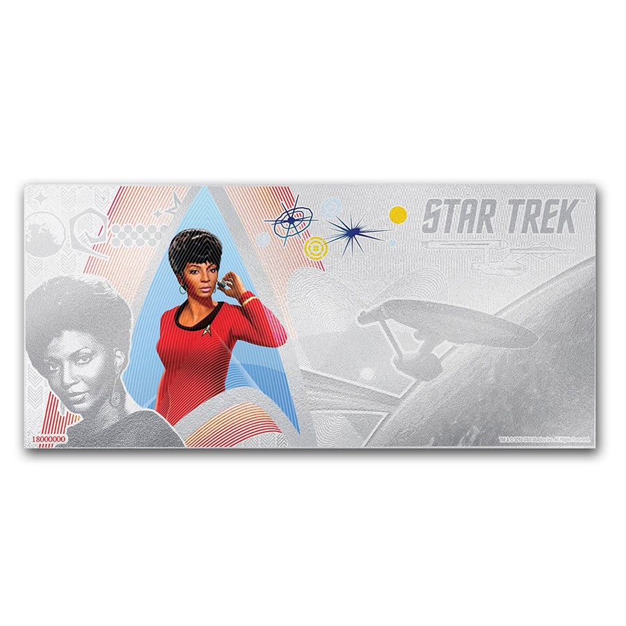 2018 Niue 5 gram Silver $1 Note Star Trek Lieutenant Uhura