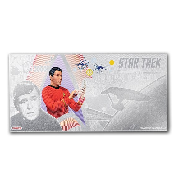 2018 Niue 5 gram Silver $1 Note Star Trek Lt. Commander Scotty