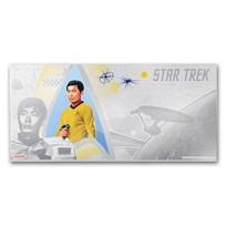 2018 Niue 5 gram Silver $1 Note Star Trek Lt. Hikaru Sulu