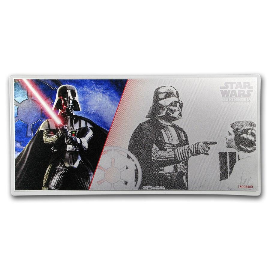 2018 Niue 5 gram Silver $1 Note Star Wars Darth Vader