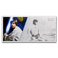 2018 Niue 5 gram Silver $1 Note Star Wars Luke Skywalker w/Album
