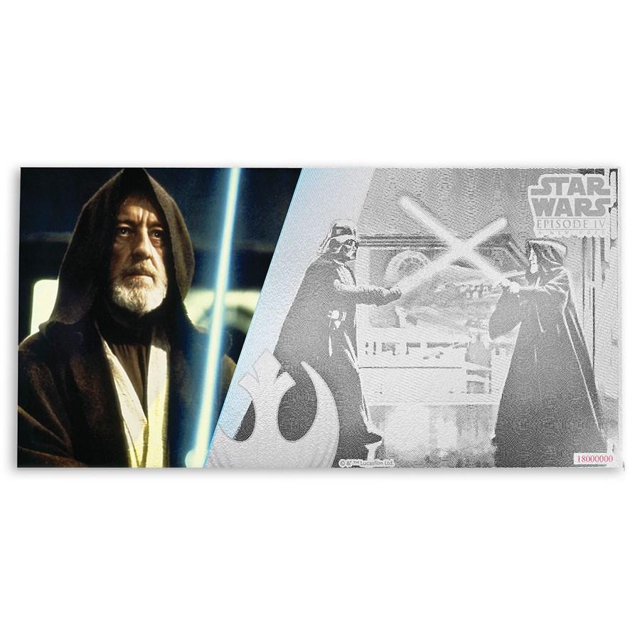 2018 Niue 5 gram Silver $1 Note Star Wars Obi-Wan Kenobi