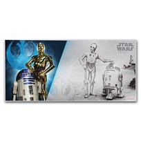 2018 Niue 5 gram Silver $1 Note Star Wars R2-D2 and C-3PO