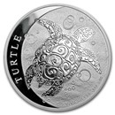 2018 Niue 5 oz Silver $10 Hawksbill Turtle BU